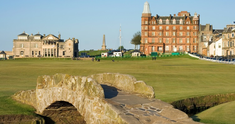 The Swilken Bridge leading to the 18th hole of the Old Course