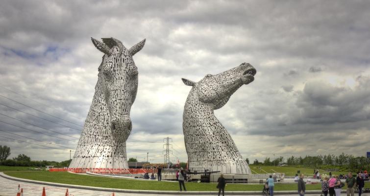 Kelpies Statues in Falkirk