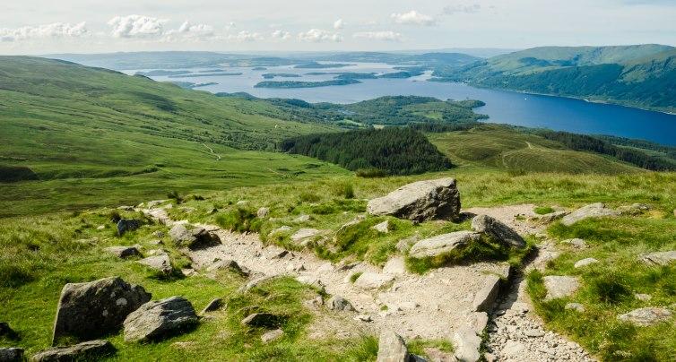 Loch Lomond from the top of Ben Lomond