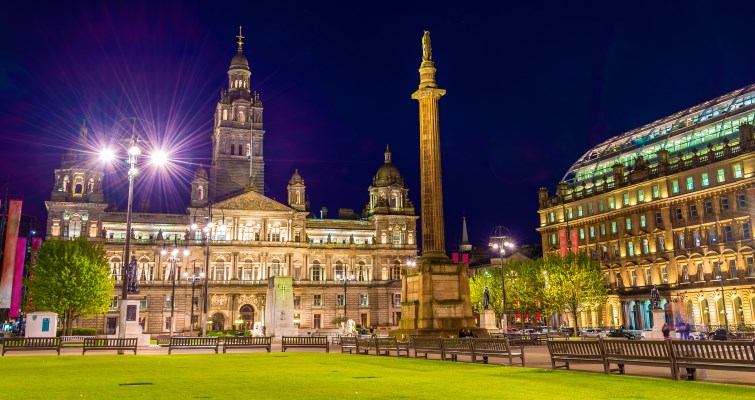 George Square and Glasgow City Chambers
